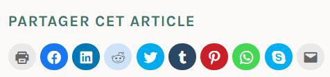 boutons partage réseaux sociaux