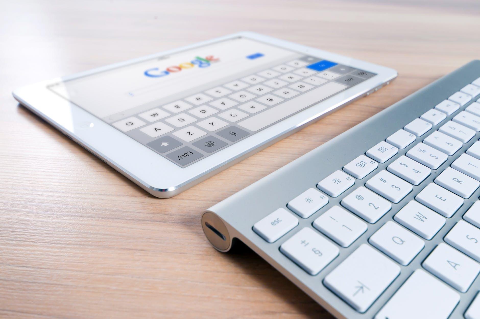 tablette clavier google